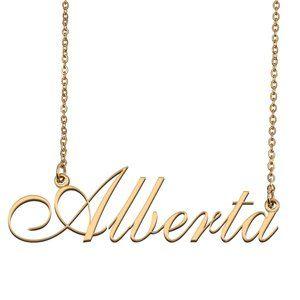 Custom Personalized Alberta Name Necklace